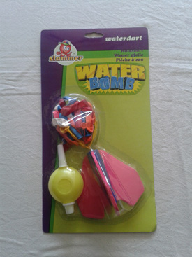 Water dartpijl + balonnen