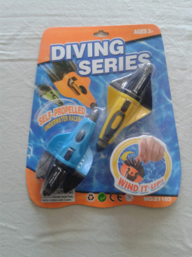 Onderwater opwind raketten