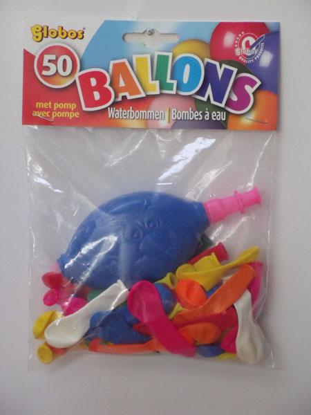 Globos Waterballonnen met pomp 50st
