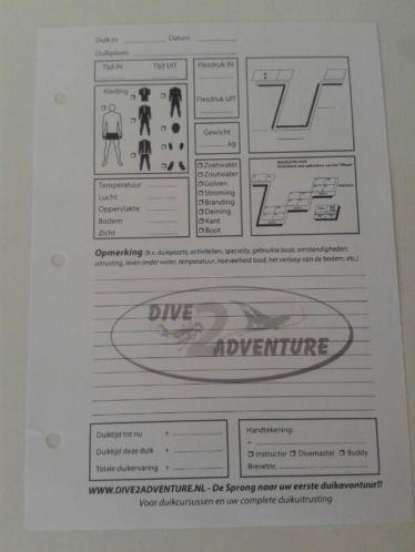 Logboek Blaadjes Dive2adventure