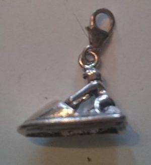 Zilveren hanger Jetski