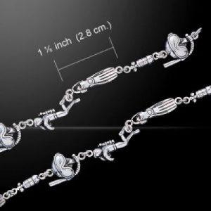 Zilveren armband 7 inch (duiker, flipper, duikfles, snorkelaar )