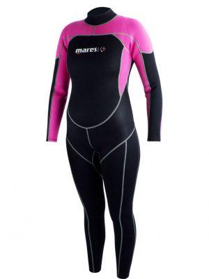 Roze Mares steamer Mira wetsuit rits achter 2.2mm