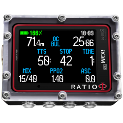 Ratio i3Xm pro Tech+ duikcomputer